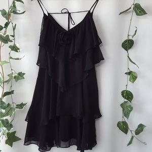 A'reve black tiered cocktail dress size S